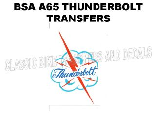 BSA A65 Thunderbolt 1968 Tank Top Transfer Decal D50072
